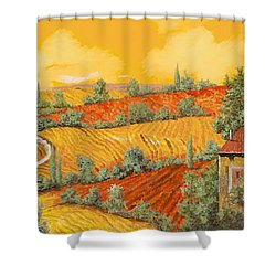 Bassa Toscana Shower Curtain by Guido Borelli