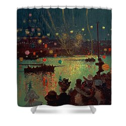 Bastille Day At Lorient Shower Curtain by Henry Moret