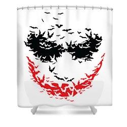 Bat Face Shower Curtain