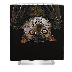 Bat Shower Curtain by Michael Creese
