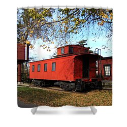 Batavia Depot Caboose Shower Curtain by Ely Arsha