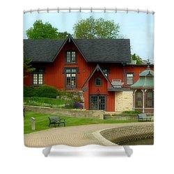 Batavia Depot Shower Curtain by Ely Arsha