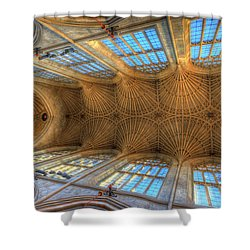 Bath Abbey Ceiling Shower Curtain