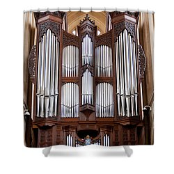 Bath Abbey Organ Shower Curtain