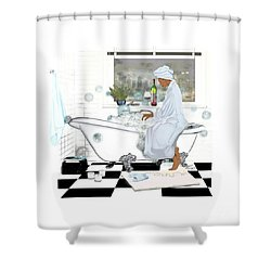 Bath And Wine With Style Shower Curtain
