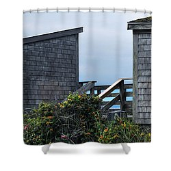 Bath Houses At Nobska Beach Shower Curtain