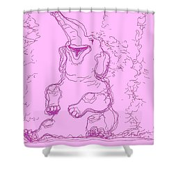 Shower Curtain featuring the drawing Bath Time Bliss by Denise Fulmer