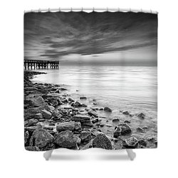 Shower Curtain featuring the photograph Bathe In The Winter Sun by Edward Kreis