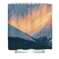 Shower Curtain featuring the photograph Bathed In Light by Carl Amoth