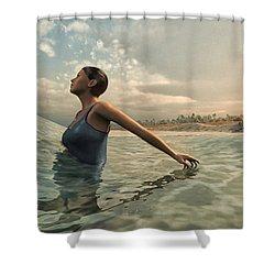 Bather Shower Curtain by Cynthia Decker