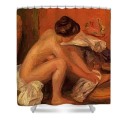Bather Drying Her Feet 1907 Shower Curtain
