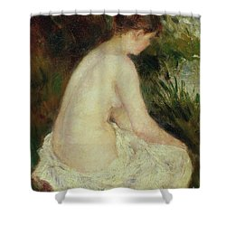 Bather Shower Curtain by Pierre Auguste Renoir