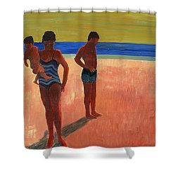 Bathers 88 Shower Curtain
