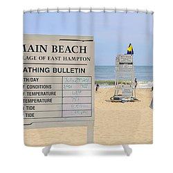 Bathing Bulletin Shower Curtain