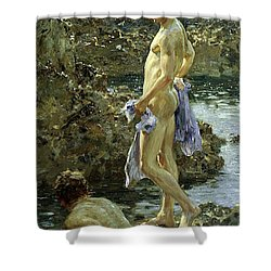 Bathing Group Of 1914 Shower Curtain