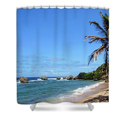 Shower Curtain featuring the photograph Bathsheba, Barbados, by Kurt Van Wagner