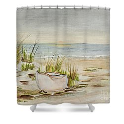 Bathtub Beach Shower Curtain