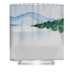 Bathurst Harbour Reflections Shower Curtain