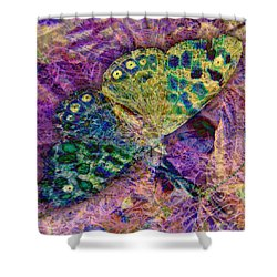 Batik Butterfly Shower Curtain