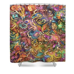 Batik Colorburst Shower Curtain