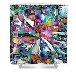 Batik Overlay Shower Curtain