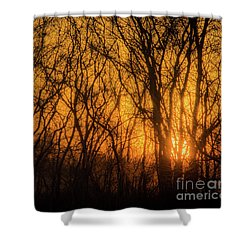Batik Sunset Shower Curtain