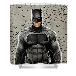 Batman Ben Affleck Shower Curtain by David Dias