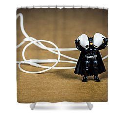 Batman Likes Music Too Shower Curtain