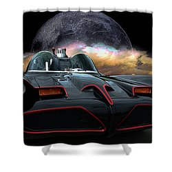 Batmobile Shower Curtain by Tim McCullough
