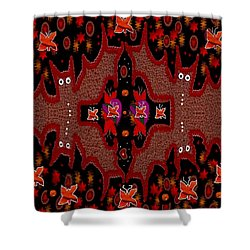 Bats In The Dark Shower Curtain by Pepita Selles