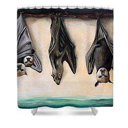Bats Shower Curtain by Leah Saulnier The Painting Maniac