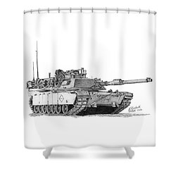 M1a1 Battalion Master Gunner Tank Shower Curtain