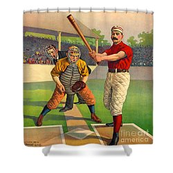Batter Up 1895 Shower Curtain by Padre Art