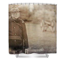 Battery D Shower Curtain