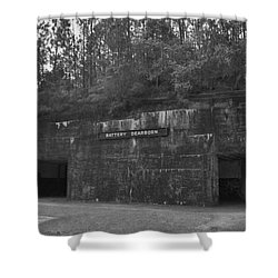 Battery Dearborn Shower Curtain by Richard Rizzo