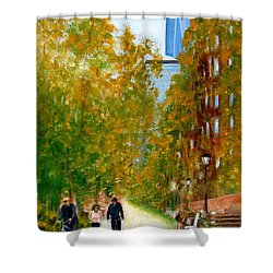 Battery Park City Ny Shower Curtain