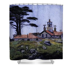 Battery Point Lighthouse Crescent City California Shower Curtain
