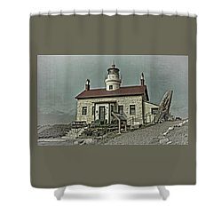 Battery Point Lighthouse Shower Curtain