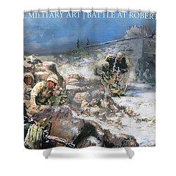Battle At Roberts Ridge Shower Curtain by Todd Krasovetz
