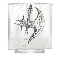 Battle Axe Shower Curtain