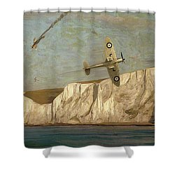 Battle Of Britain Over Dover Shower Curtain