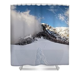 Battle Of Earth And Sky Shower Curtain by Evgeni Dinev