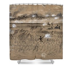 Battle Of Fredericksburg Shower Curtain by Granger
