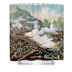 Battle Of Kenesaw Mountain Georgia 27th June 1864 Shower Curtain by American School