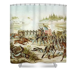 Battle Of Olustee Shower Curtain by American School