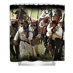 Battle Of San Jacinto Shower Curtain by Kim Henderson