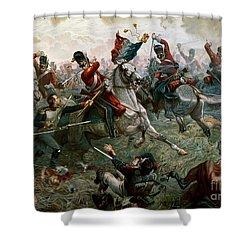 Battle Of Waterloo Shower Curtain by William Holmes Sullivan