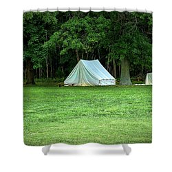 Battlefield Camp Shower Curtain