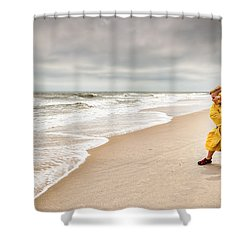 Battling The Elements Shower Curtain by Wayne King