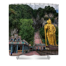 Batu Caves Shower Curtain by Adrian Evans